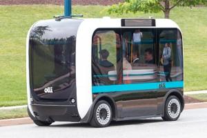 Беспилотный автобус напечатали на 3D-принтере