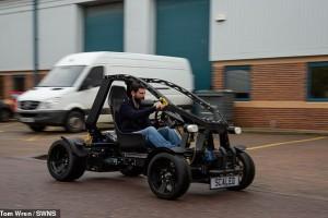 В Англії  створений електробаггі  з переробленого пластику за допомогою 3D-друку