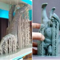 Возможные способы расположения модели при 3D-печати фотополимером