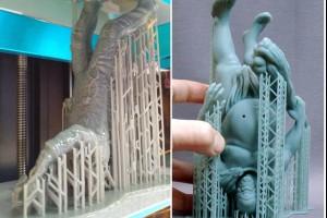 Можливі способи розташування моделі при 3D-друці фотополімером