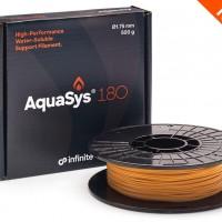 AquaSys 180 – новый водорастворимый опорный материал для термопластов