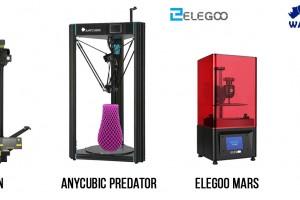 Новинки 3D-принтеров  от компаний Anycubic, Elegoo и Wanhao